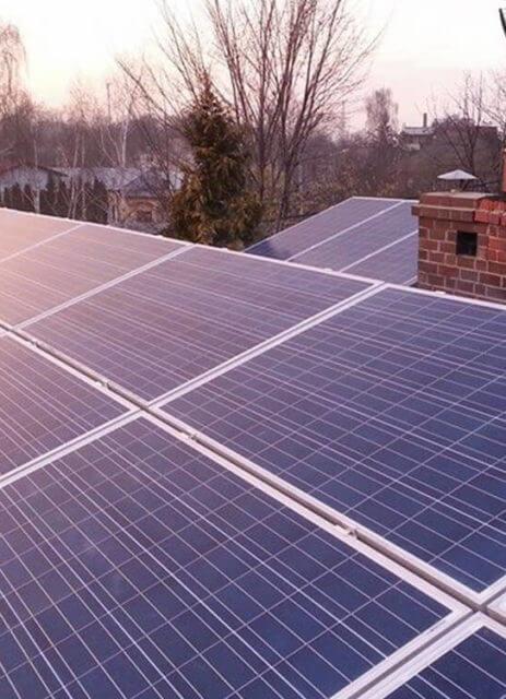 Фотоелектрична установка на пласкому даху